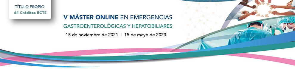 V MÁSTER ONLINE EN EMERGENCIAS Gastroenterológicas y Hepatobiliares