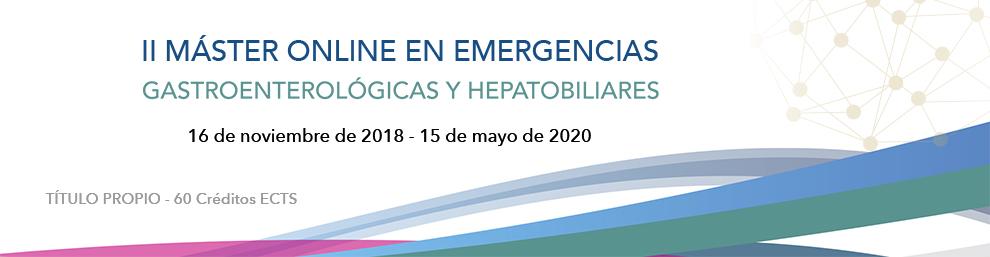 II MÁSTER ONLINE EN EMERGENCIAS Gastroenterológicas y Hepatobiliares