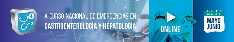 X Curso Nacional de Emergencias en Gastroenterología y Hepatología